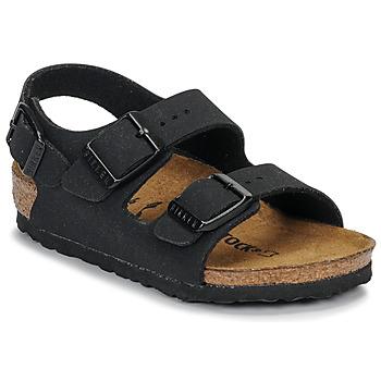 Schuhe Jungen Sandalen / Sandaletten Birkenstock MILANO Schwarz