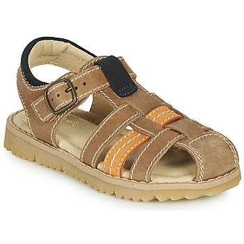 Chaussures Garçon Sandales et Nu-pieds André LEOPAUL Marron