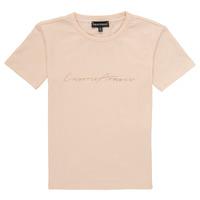 Vêtements Fille T-shirts manches courtes Emporio Armani Armel Rose