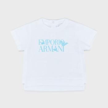 Vêtements Garçon T-shirts manches courtes Emporio Armani Arthus Blanc