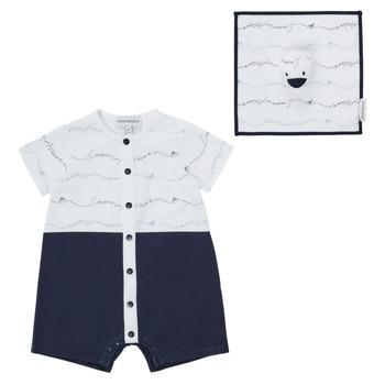 Vêtements Garçon Combinaisons / Salopettes Emporio Armani Edouard Marine