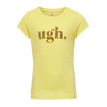 Vêtements Fille T-shirts manches courtes Only KONJULLA Jaune