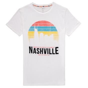 Kleidung Jungen T-Shirts Name it NKMDPOPS Weiß