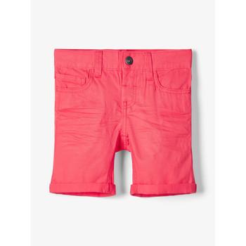 Vêtements Garçon Shorts / Bermudas Name it NMMSOFUS TWIISKA Rouge