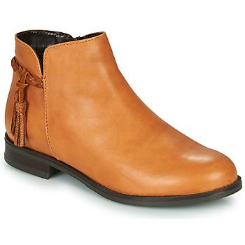 Chaussures Femme Boots André MILOU Camel