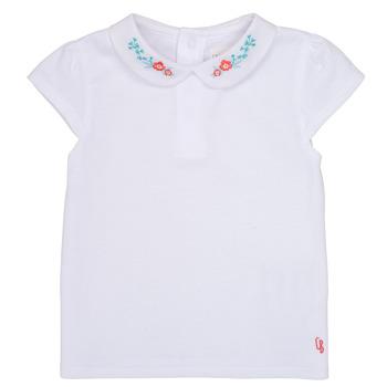 Vêtements Fille T-shirts manches courtes Carrément Beau JULIEN Blanc