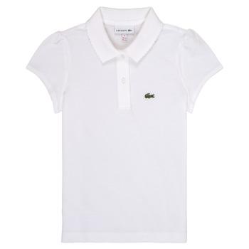 Vêtements Fille Polos manches courtes Lacoste LOLLA Blanc