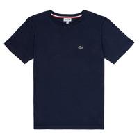 Vêtements Garçon T-shirts manches courtes Lacoste JOSEPHE Marine