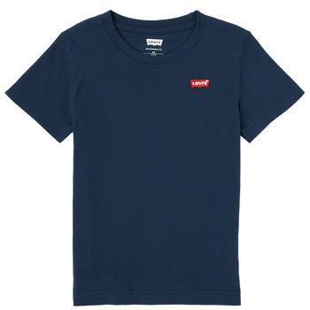 Kleidung Jungen T-Shirts Levi's BATWING CHEST HIT Marineblau