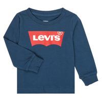 Vêtements Garçon T-shirts manches longues Levi's BATWING TEE LS Marine