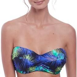 Vêtements Femme Maillots de bain séparables Fantasie Haut de maillot bandeau twisté Coconut grove ink Bleu