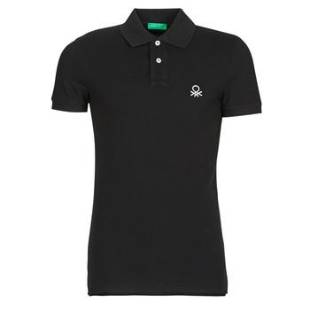 Vêtements Homme Polos manches courtes Benetton MARNELLI Noir
