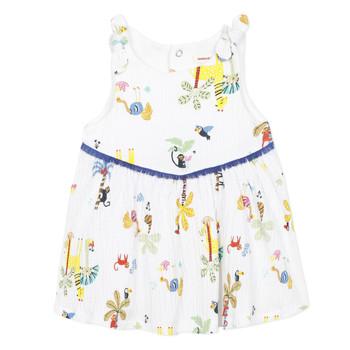 Kleidung Mädchen Kurze Kleider Catimini BIXENTE Weiß