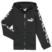 Vêtements Garçon Sweats Puma AMPLI HOOD JKT Noir