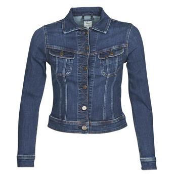 Kleidung Damen Jeansjacken Lee SLIM RIDER JACKET Blau / Marineblau