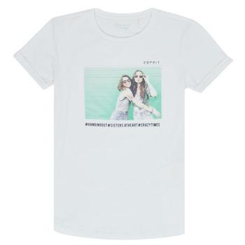 Kleidung Mädchen T-Shirts Esprit ELISH Weiß