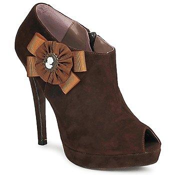 Schuhe Damen Ankle Boots Fericelli ASSETE Braun