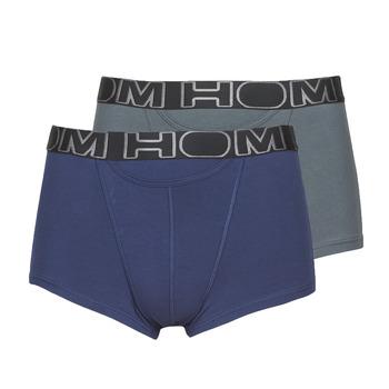Sous-vêtements Homme Boxers Hom HOM BOXERLINES BOXER BRIEF HO1 PACK X2 Gris / Marine