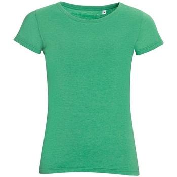 Vêtements Femme T-shirts manches courtes Sols 01181 Vert chiné