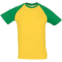Vêtements Homme T-shirts manches courtes Sols Contrast Jaune/vert