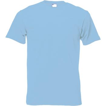 Vêtements Homme T-shirts manches courtes Universal Textiles Casual Bleu clair