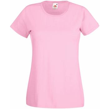 Vêtements Femme T-shirts manches courtes Universal Textiles Casual Rose pastel