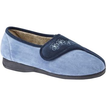 Chaussures Femme Chaussons Sleepers Embroidered Bleu marine/Bleu