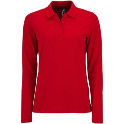 Vêtements Femme Polos manches longues Sols Pique Rouge