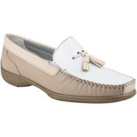Chaussures Femme Mocassins Cotswold Moccasin Blanc/Beige/Fauve