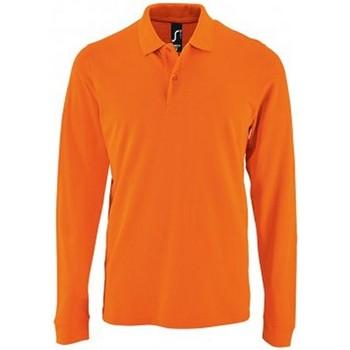 Vêtements Homme Polos manches longues Sols Pique Orange