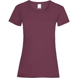 Vêtements Femme T-shirts manches courtes Universal Textiles Casual Rouge sang