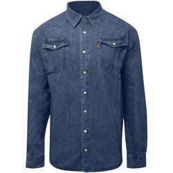Vêtements Homme Chemises manches longues Duke  Bleu