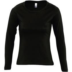 Vêtements Femme T-shirts manches longues Sols Majestic Noir