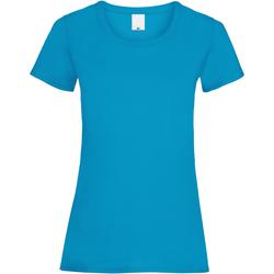 Vêtements Femme T-shirts manches courtes Universal Textiles Casual Cyan