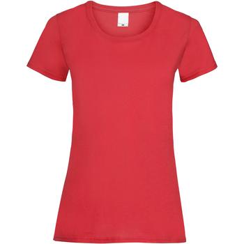 Vêtements Femme T-shirts manches courtes Universal Textiles Casual Rouge vif