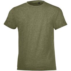 Vêtements Garçon T-shirts manches courtes Sols Regent Kaki