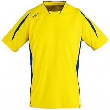 Vêtements Enfant T-shirts manches courtes Sols 01639 Jaune/Bleu roi