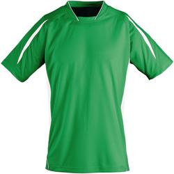 Vêtements Enfant T-shirts manches courtes Sols 01639 Vert vif/Blanc