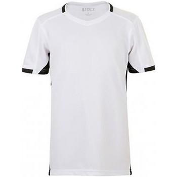 Vêtements Enfant T-shirts manches courtes Sols 01719 Blanc/Noir