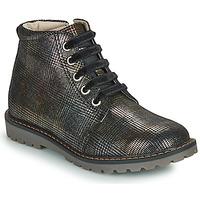 Chaussures Fille Boots GBB NAREA CVN ECOSSAIS NOIR-BRONZE DPF/AGNESE