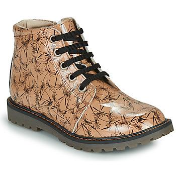 Chaussures Fille Boots GBB NAREA VVN ROSE-IMPR NOIR DPF/AGNESE