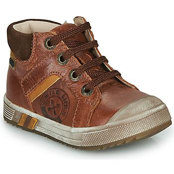 Chaussures Garçon Baskets montantes GBB OLANGO VTC MARRON DPF/BOSS CAPOT