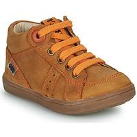Chaussures Garçon Baskets montantes GBB ANGELITO NUB MARRON DPF/2367