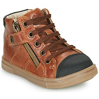Chaussures Garçon Baskets montantes GBB KAMIL VTE MARRON DPF/TRILLY