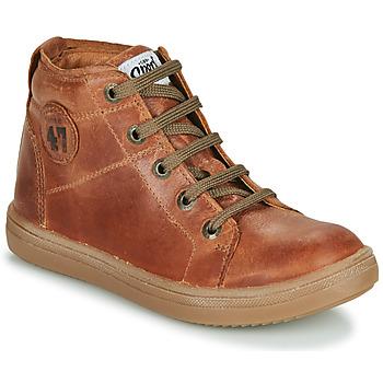 Chaussures Garçon Baskets montantes GBB KELIG VTE MARRON DPF/2835