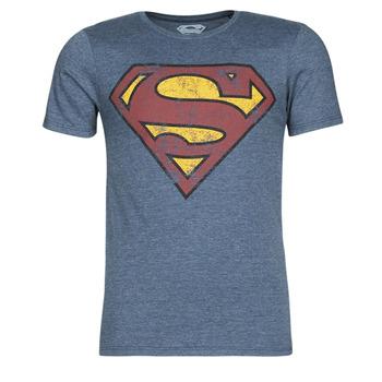 Kleidung Herren T-Shirts Yurban SUPERMAN LOGO VINTAGE Marineblau