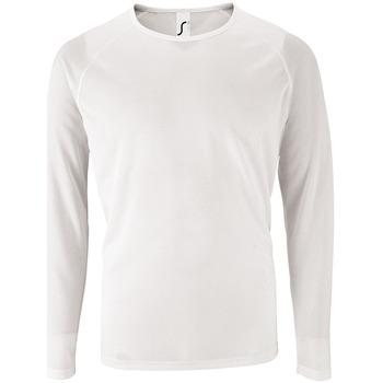 Vêtements Homme T-shirts manches longues Sols SPORT LSL MEN Blanco