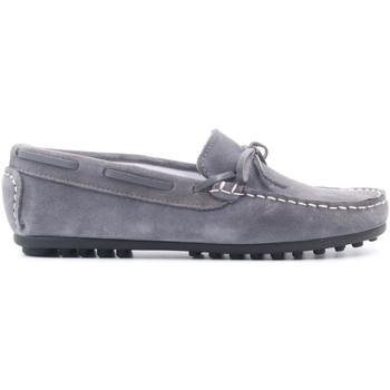 Chaussures Enfant Mocassins Boni & Sidonie Mocassin en Cuir à lacet - GABRIELLE II Daim Gris Souris