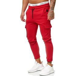Vêtements Homme Pantalons de survêtement Cabin Pantalon jogging treillis Jogging R-1213 rouge Rouge