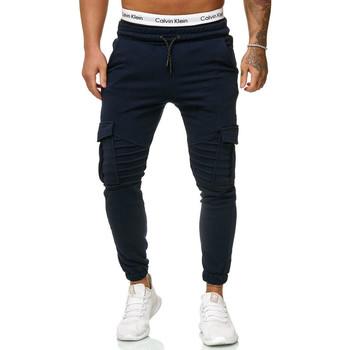 Vêtements Homme Pantalons de survêtement Cabin Pantalon jogging treillis Jogging R-1214 bleu marine Bleu